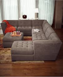 roxanne fabric piece modular sectional sofa with ottoman