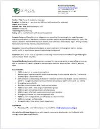 application letter research assistant opportunities reciprocal consulting cover letter for research assistant position