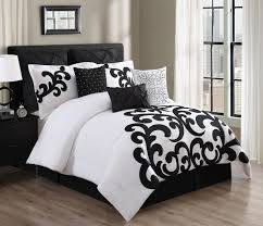 image of black and white comforter full size