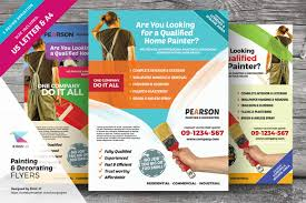 painting decorating flyers flyer templates on creative market