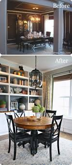 dining room makeover ideas. Dining Room Anchored By A Custom Bookcase Makeover Ideas R