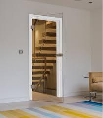 frameless internal glass doors toughed