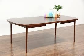 midcentury danish modern rosewood 1960 s vintage dining table 1 leaf