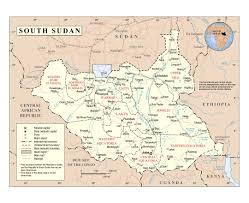 Карты Южного Судана | Коллекция карт Южного Судана | Африка | Maps of the  World | Карты всех регионов, стран и территорий Мира