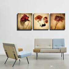 modern oil painting art in full bloom rose 3 board without frame painting hanging on the wall of the house decoration fl paintings canvas paintings