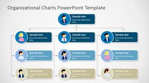sample table of organization template four levels tree organizational chart for powerpoint slidemodel