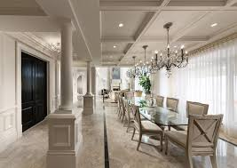 formal dining rooms with columns. dining room innovative designs with beige chair wainscoting chandelier coffered ceiling column double doors formal rooms columns