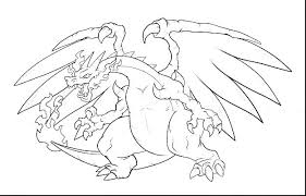 Charizard Pokemon Card Coloring Pages Mega X Y Go Colouring Page