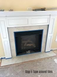 Tile Fireplace Makeover Fireplace Makeover Stencil Tile Using Chalk Paint Ellery Designs