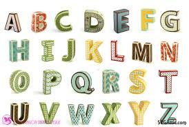 sds 3d Alphabet