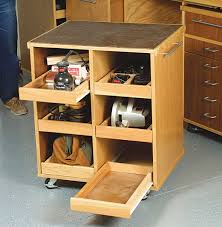 Kitchen Cabinet Rolling Shelves Rolling Cart Fits Under A Workbench Storage For Tools Neat