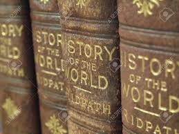 closeup picture of a row of old history books stock photo 579240