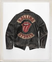 the rolling stones custom leather motorcycle jacket the