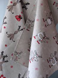 linen towels kitchen towels towels dish towels hand towel rudolph reindeer holiday tea