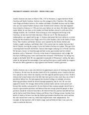 andrew jackson essay andrew jackson uk essays