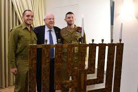 president rivlin lighting hanukkah candles with ultra orthodox solrs december 2 2018 mark neiman gpo