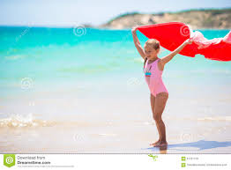cool beach towels for girls. Download Little Girl With Beach Towel During Tropical Stock Image - Of Oceanfront, Coast Cool Towels For Girls O