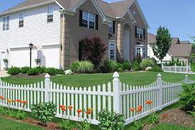 Vinyl fencing White All Impressions Perimeter Vinyl Fences Come In Your Choice Of White Or Tan Essex Fence Company Vinyl Master Halco