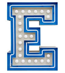 Graphic Collection ‐ Letter E Lamp Delightfull - Milia Shop