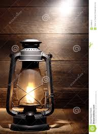 Rustic Lantern Light Old Kerosene Lantern Light In Rustic Country Barn Stock