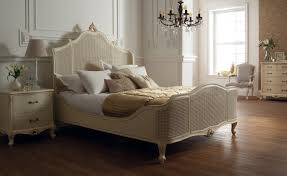 Regency Bedroom Furniture Racgency French Mid 18th Century Ivory White Bed Cane Panels Oak