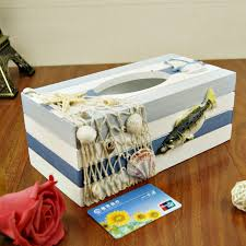 Large Wooden Boxes To Decorate JJ large tissue box wooden box Mediterranean style garden Home 22