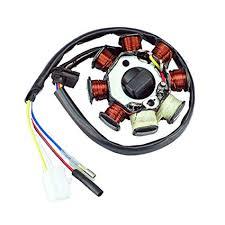 8 pole stator wiring wiring diagram amazon com new alternator magneto stator 8 coil 8 pole 4 wire gy6amazon com new alternator