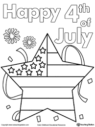 Small Picture Happy 4th of July Poster Coloring Page MyTeachingStationcom
