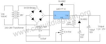 1 25 v to 37v 1 5a variable adjustable power supply using lm317 variable adjustable power supply lm317