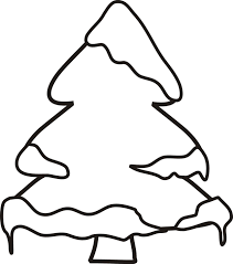 Small Picture Winter tree coloring page