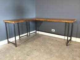 corner desk home office furniture shaped room. custom wood office furniture reclaimed corner desk which furnished with metal home shaped room