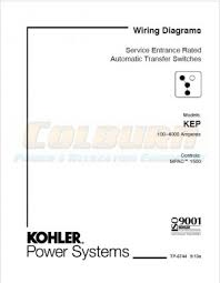industrial engines transfer switches wiring diagram manuals kohler product literature tp 6744