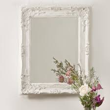 Shabby Chic Bedroom Mirror Vintage Shabby Chic White Cream French Ornate Wall Mirror Rococo