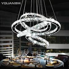 diamond ring led crystal chandelier light modern led lighting circles lamp home decorative light fixture lamp