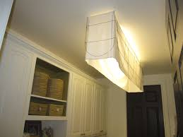 Kitchen Fluorescent Light Fixture Covers Fluorescent Light Fixture Fabric Shade Cool Lighting Ideas