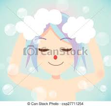 washing hair clipart.  Washing Wash Hair Bath Time  Csp27711254 For Washing Hair Clipart G