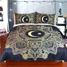 boho bedding set for king sets queen super gold black mandala twin comforters