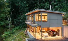 Steep Hillside Home Designs Craven Gap Modern House Plans House Roof Solar House