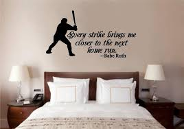 baseball ruth quote vinyl decal