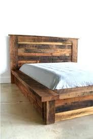 Rustic Wood Platform Bed Reclaimed Wood Platform Bed Full Size Of
