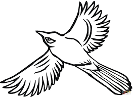 Small Picture Flying Jay coloring page Free Printable Coloring Pages
