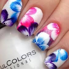Decorative Nail Art Designs 100 Simple Flower Nail Art Designs for Beginners Styles At Life 68