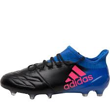 adidas mens x 16 1 leather fg football boots core black shock pink blue
