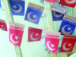 Decorative Items With Paper Coloured 14th August Flags Sued Pakistan Today