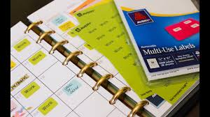 Levenger Templates Color Coded Planner Labels Using Your Printer To Create