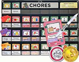 Neatlings Chore Chart Neatlings Chore System Chore Chart For Kids 80 Chores For Toddlers To Teens Customize For 1 3 Kids Size 25 X18 Teal Household Chore