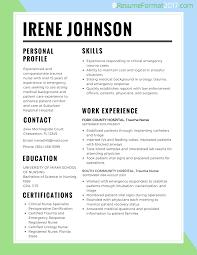 Best Resume Format 2017