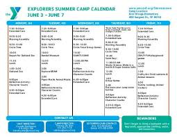 Explorers Summer Camp Calendar June 3 Ymca Of San Francisco
