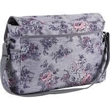 laura ashley large flap diaper bag