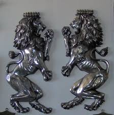 cast iron wall mounted lions